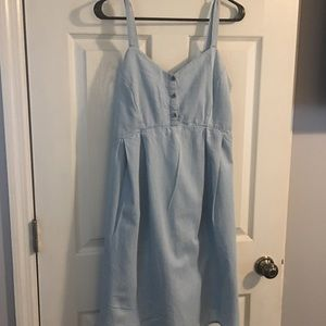 Maternity blue jean dress